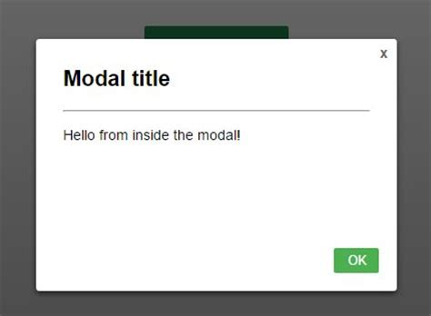 Simple Responsive CSS-Only Modal Dialog   CSS Script