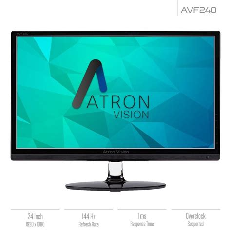 Atron Vision AVF240 Review: 144Hz 1080p Gaming Monitor