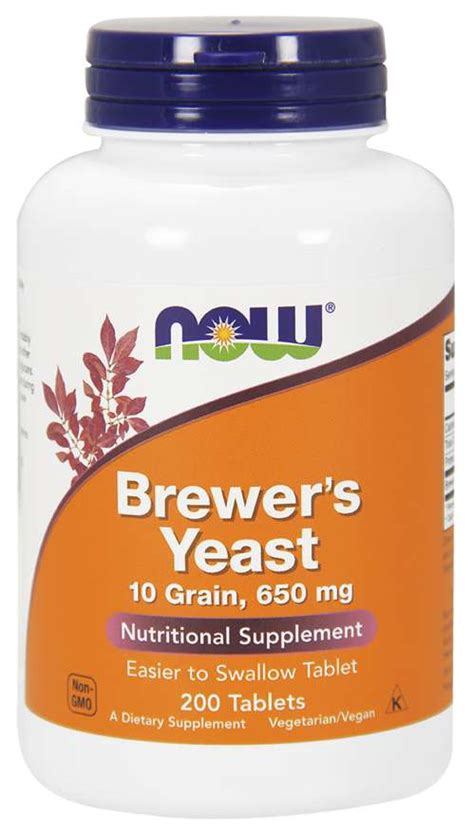 Brewer's Yeast 650 mg Tablets | NOW Foods
