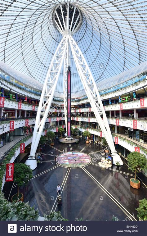 A view inside the Khan Shatyr shopping and entertainment