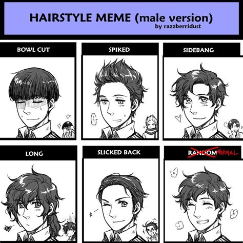 Hairstyle Meme - Male Version [Spain]by ~hime1999