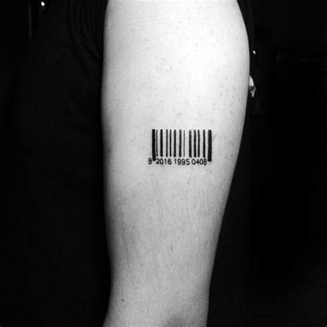 30 Barcode Tattoo Designs For Men - Parallel Line Ink Ideas