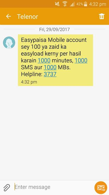 Telenor Offers Free 1000 Minutes SMS And 1 GB Internet