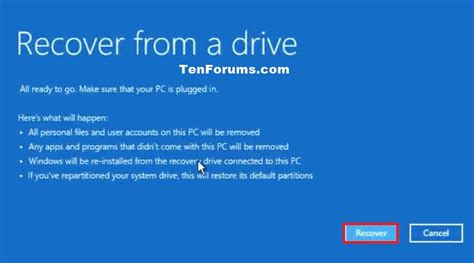 Recover Windows 10 from a Recovery Drive | Tutorials
