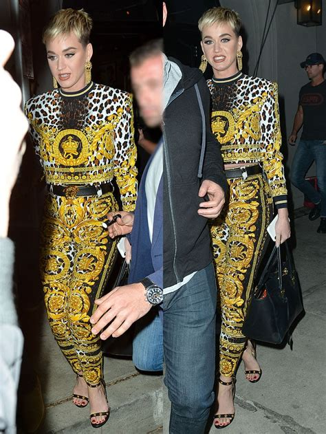 Katy Perry Trades Versace Medusa-Medallion Sandals for UGG