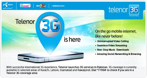 Telenor introduces 3G Internet Packages in Pakistan