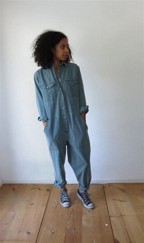 Vintage womens jumpsuit coveralls by HotCocoaVintage on