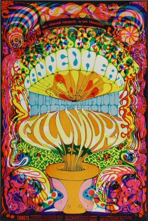 Canned Heat Vintage Concert Poster from Fillmore West, Oct