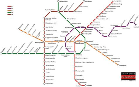 Vienna Subway Map compared to its real geography [OC