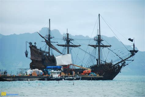 Queen Anne's Revenge - on location for Pirates of the Cari