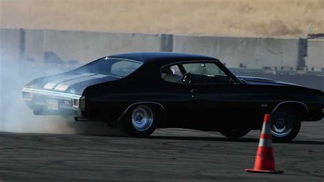 Bad in Black 1970 Chevelle SS at Thunderhill Raceway - YouTube