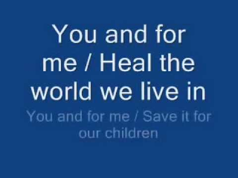 Michael Jackson performing Gone To Soon and Heal The World