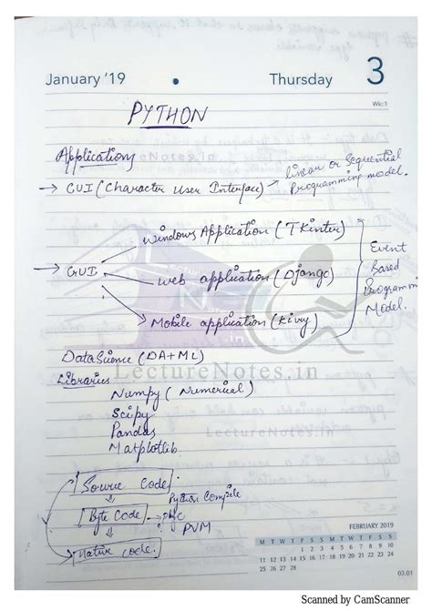 Python Programming Note pdf download - LectureNotes for free