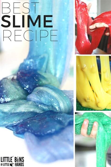 Best Slime recipes for Making Slime With Kids for Science
