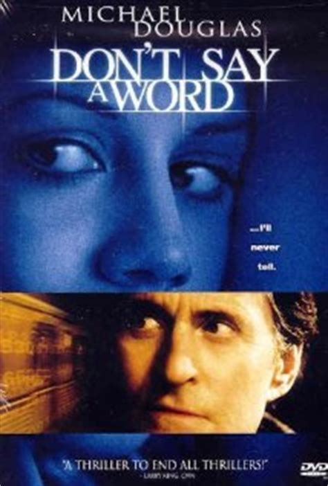 Don't Say a Word DVD Release Date February 19, 2002