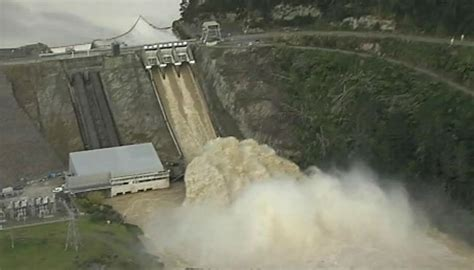 Video: Hell and high water - raging flood smashes through