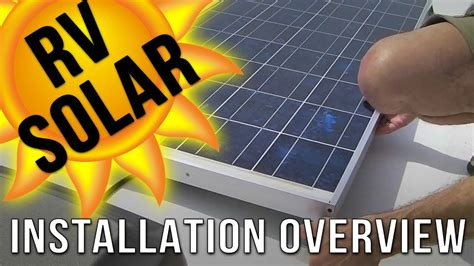 RV Solar Panel Installation Overview - YouTube